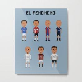 """Ronaldo """"El Fenomeno"""" Metal Print"""