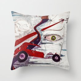 My minds eye when I was I was eighteen Throw Pillow