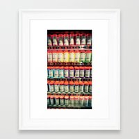 pantone Framed Art Prints featuring Pantone Shelf by Sookie Endo