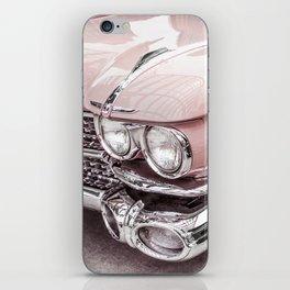 Blush Pink Vintage Car iPhone Skin
