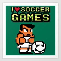 I Love Soccer Games Art Print