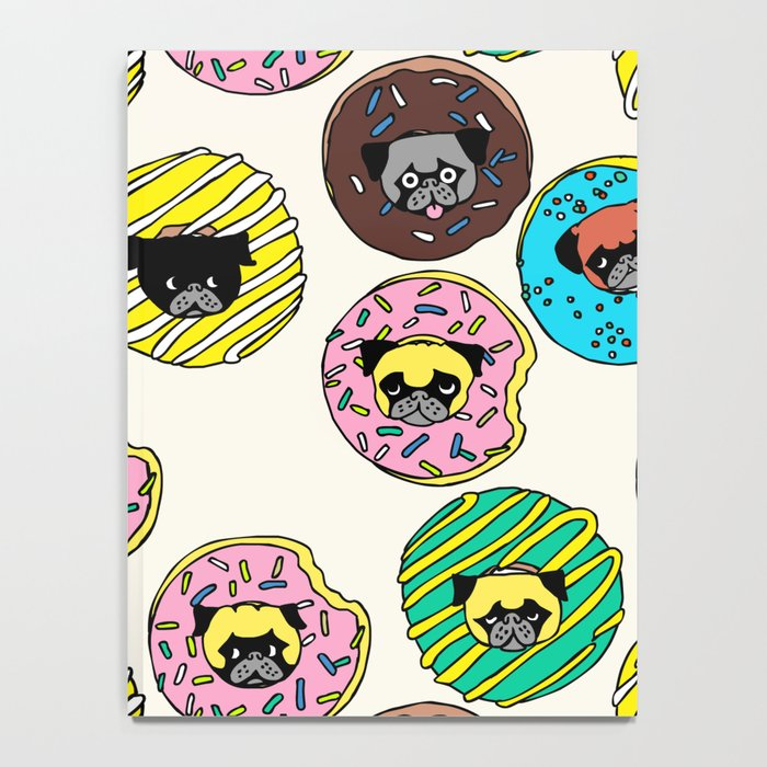 Pug Donuts Notebook