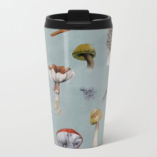 Mushroom Forest Party Metal Travel Mug