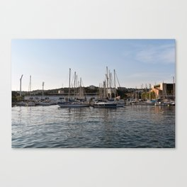 Dock your boat in downtown Martigues France Canvas Print