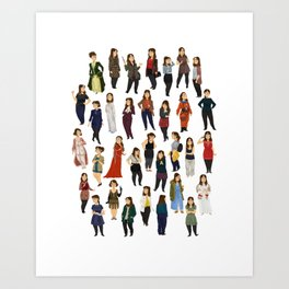 Every Clara Outfit Ever | S8 Art Print
