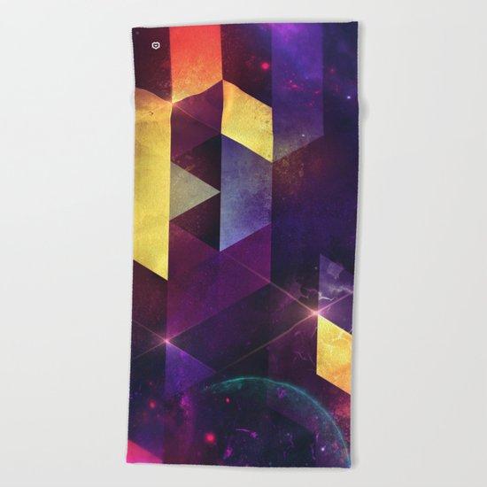 cryxxyng spyce Beach Towel