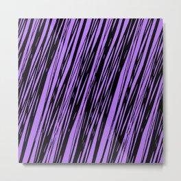Black lines on a purple background pattern Metal Print