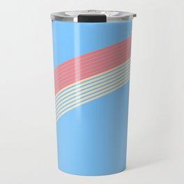 rainbow stripe 10 Travel Mug