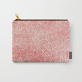 Peach echo and white swirls doodles Carry-All Pouch