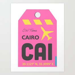 Cairo CAI airport Art Print
