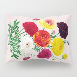 Bright Retro Flowers Pillow Sham