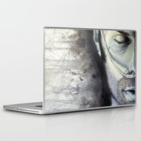sam winchester Laptop & iPad Skins featuring Sam Winchester by Amanda Kontakos