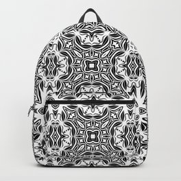 black and white Damascus ornament 2 Backpack