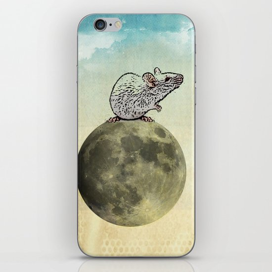 Tiny and the Cheese Moon iPhone & iPod Skin