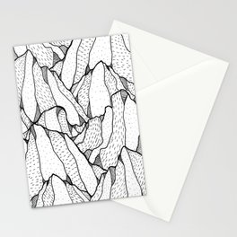 White pattern mountains Stationery Cards