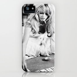 Brigitte Bardot Playing Cards iPhone Case
