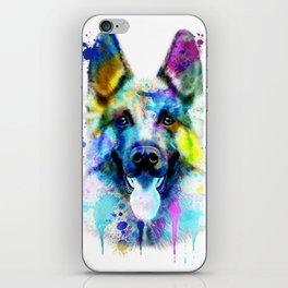 German Shepherd Watercolor, Watercolor Dog print, German Shepherd Print, German Shepherd Art iPhone Skin