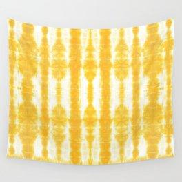 Yellow Tiki Shibori Wall Tapestry