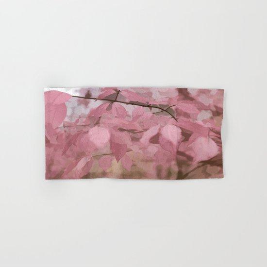 Soft Pastel Leaves  Hand & Bath Towel