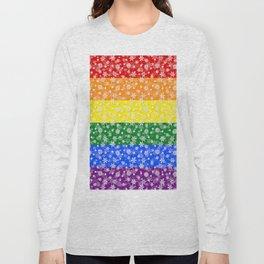 Christmas Pride Bright Festive Rainbow Snowflakes Long Sleeve T-shirt