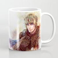 merlin Mugs featuring BBC Merlin: Mage Merlin and King Arthur by delusionsINC