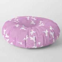 Humming Bird Pink Floor Pillow