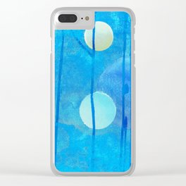 light blue sphere Clear iPhone Case