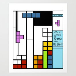 Mondrian Taught Me Everything I Know About Arcade Gaming Art Print