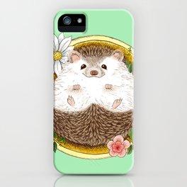 Hedgehog with cactus iPhone Case