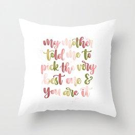 Playfully Romantic Master Bedroom Wall Art & Decor Throw Pillow