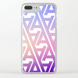 "Typographic Pattern ""A"", Color Clear iPhone Case"