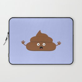 Frightened poo Laptop Sleeve
