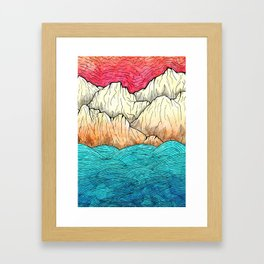 As the sea hits the mountains Framed Art Print