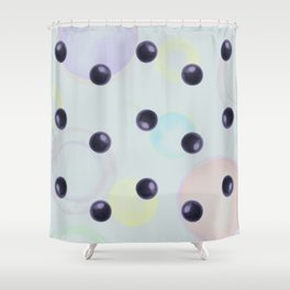 Plums Pattern Shower Curtain