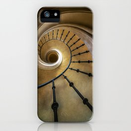 Golden spiral staircase iPhone Case