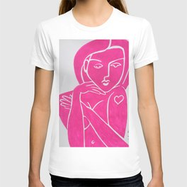 Pretty in Pink Woman - POP ART PAINTING ABSTRACT T-shirt