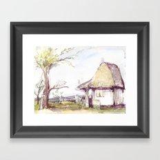 Romanian watercolor Framed Art Print