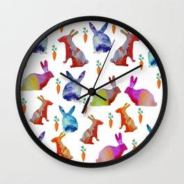 Rabbits Joy Wall Clock