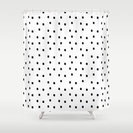 Dotty Dots Black and white Shower Curtain