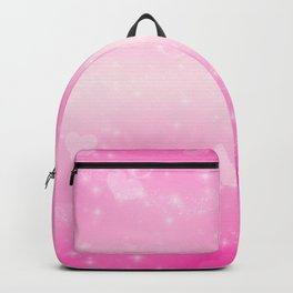 Magic deep pink heart patterned Backpack