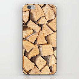 Stack of firewood iPhone Skin