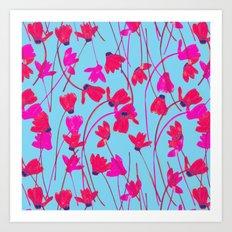 Flowering Cyclamen #5 Art Print