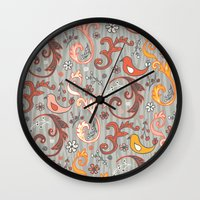 grim fandango Wall Clocks featuring Fandango by Heather Dutton