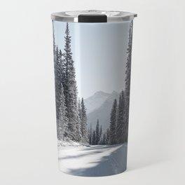 winters path Travel Mug