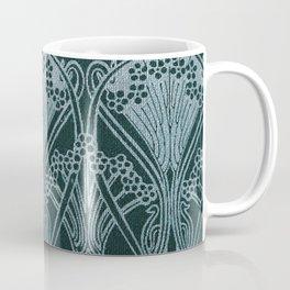 Art nouveau, silver gray blue,pattern, vintage,retro,eLegance,chic, Coffee Mug