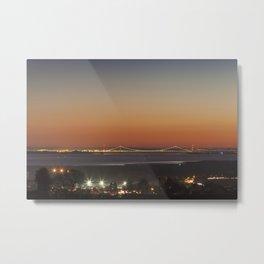 November Sunset over the Severn Metal Print