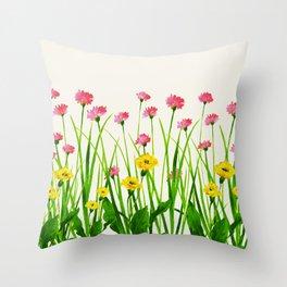 Wildflowers III Throw Pillow