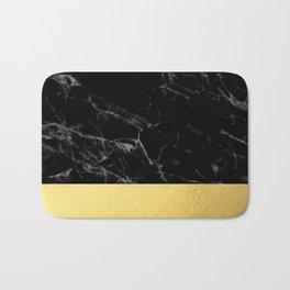 Black Marble & Gold Bath Mat