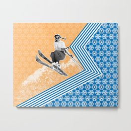 Ski Like a Girl Metal Print