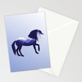 Wild Horse Mustang Equine Double Exposure Wildlife Animal Stationery Cards